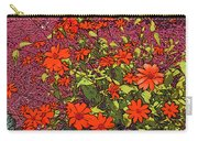 Dandy Digital Daisies In Red Carry-all Pouch