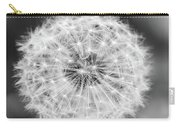 Dandylion Black And White Carry-all Pouch