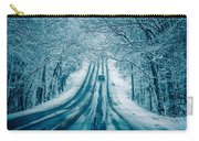 Dangerous Slippery And Icy Road Conditions Carry-all Pouch