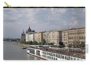 Danube Riverside With Old Buildings Budapest Hungary Carry-all Pouch