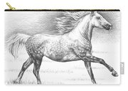 Dapple Grey Horse Carry-all Pouch