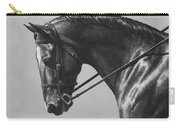 Dark Brown Dressage Horse Black And White Carry-all Pouch