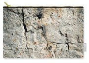 Dark Fissures On Limestone Rock Carry-all Pouch