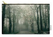 Dark Gloomy Alley In Woods Carry-all Pouch