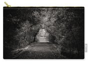 Dark Path In Black And White Carry-all Pouch