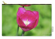 Dark Pink Flowering Tulip Flower Blossom Carry-all Pouch