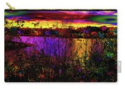 Dark Psychedelic Sunset Carry-all Pouch