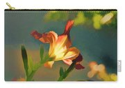 Dark Red Day Lily With Sun Shining Through I Abstract I Carry-all Pouch