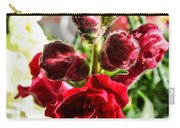 Dark Red Fancy Snapdragon Carry-all Pouch