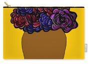 Dark Rose Folk Art Carry-all Pouch
