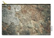 Dark Sandstone Surface With Moss Carry-all Pouch