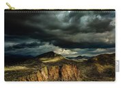 Dark Storm Clouds Over Cliffs Carry-all Pouch