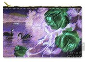 Dark Swan And Roses Carry-all Pouch by Writermore Arts
