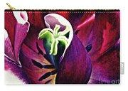 Dark Tulip Macro Carry-all Pouch