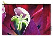 Dark Tulip Macro Square Format Carry-all Pouch