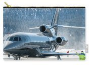 Dassault Falcon 900 Parking With Marshaller Carry-all Pouch