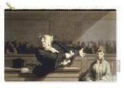 Daumier: Advocate, 1860 Carry-all Pouch