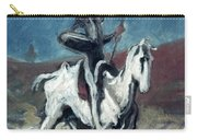 Daumier: Quixote, 19th C Carry-all Pouch