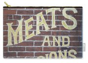David Mann - Meats And Provisions Carry-all Pouch