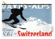 Davos, Alps, Mountains, Switzerland, Winter, Ski, Sport Carry-all Pouch