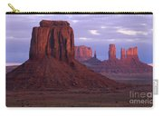 Dawn At Monument Valley Carry-all Pouch by Sandra Bronstein