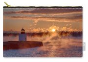 Dawn Peeking Over At Derby Lighthouse Carry-all Pouch