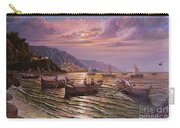 Day Ends On The Amalfi Coast Carry-all Pouch by Rosario Piazza