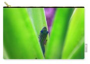 Day Gecko And Pineapple Plant Carry-all Pouch