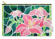 Day Lilies In Stained Glass Carry-all Pouch