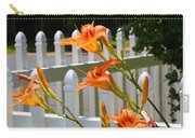 Daylilies On Picket Fence Carry-all Pouch