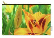 Daylily Bud And Bloom Carry-all Pouch