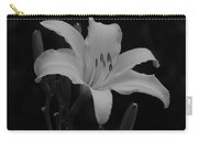 Daylily In Black And White Carry-all Pouch