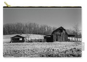 Days Gone By - Arkansas Barn In Black And White Carry-all Pouch