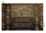 Daytona 200 Plaque Carry-all Pouch by David Lee Thompson