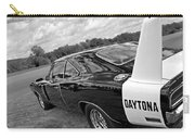 Daytona Charger In Black And White Carry-all Pouch