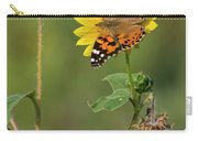 Ddp Djd Painted Lady On Sunflower 2690 Carry-all Pouch