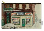 De Bullion Street In  Winter Montreal Carry-all Pouch