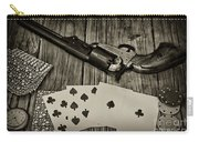 Dead Mans Hand Black And White Carry-all Pouch