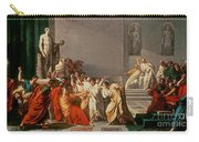 Death Of Julius Caesar Carry-all Pouch by Vincenzo Camuccini