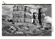 Death On Notom-bullfrog Road - Capitol Reef - Bw Carry-all Pouch
