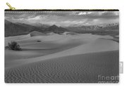 Death Valley Dunes Black And White Carry-all Pouch