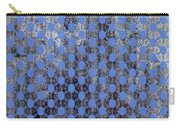 Decadent Urban Blue Patterned Abstract Design Carry-all Pouch