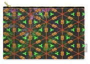 Decadent Urban Orange Green Patterned Abstract Design Carry-all Pouch