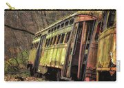 Decaying Trolley Cars Carry-all Pouch