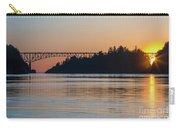 Deception Pass Bridge Sunset Sunstar Carry-all Pouch
