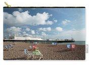 Deckchairs On Brighton Beach Carry-all Pouch