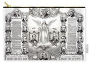 Declaration Of Independence 1884 Poster Restored Carry-all Pouch