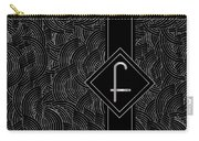Deco Jazz Swing Monogram ...letter F Carry-all Pouch