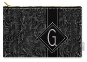 Deco Jazz Swing Monogram ...letter G Carry-all Pouch