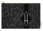 Deco Jazz Swing Monogram ...letter H Carry-all Pouch